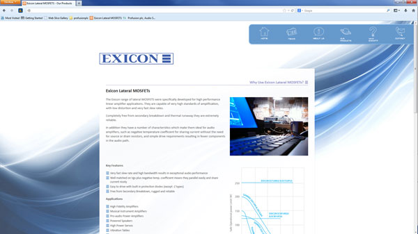 Exicon Lateral MOSFETs